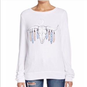 WILDFOX BULL SKILL AND FEATHERS TOP